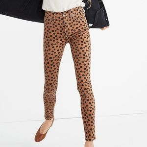 Madewell High-Rise Skinny Jeans in Leopard Dot